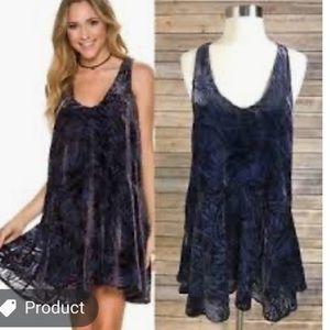 NWOT Free People Mini Velvet Dress size S P